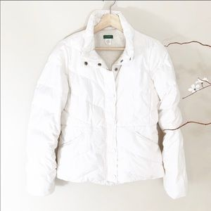 J. Crew Sherpa Lined Cream Puffer Down Jacket S